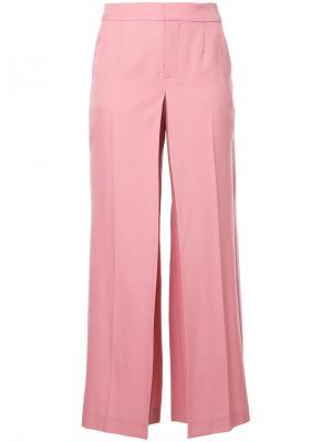 Расклешенные брюки Origami Irene. Цвет: розовый и фиолетовый