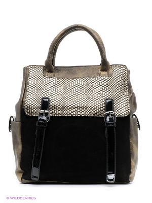 Рюкзак-сумка Sofiya. Цвет: золотистый, черный