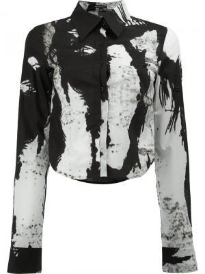 Web print blouse Ann Demeulemeester. Цвет: чёрный
