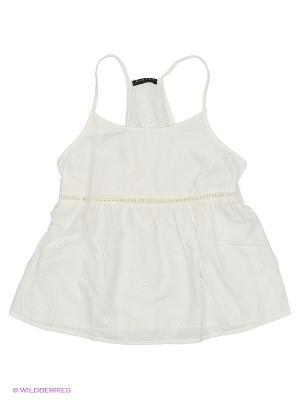 Блузка Sisley Young. Цвет: молочный
