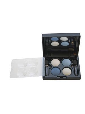 Тени для век КватроQuattro Eyeshadow Mat 645, 2,4г NOUBA. Цвет: белый, синий, голубой