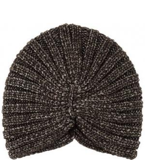 Вязаная шапка-чалма Noryalli. Цвет: коричневый