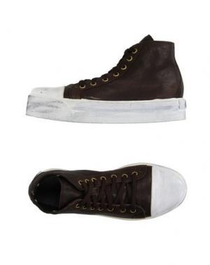 Высокие кеды и кроссовки OM. Цвет: темно-коричневый