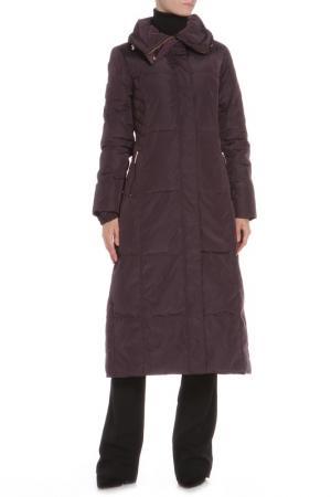 Полуприлегающая куртка на подкладке с утеплителем ELLEN TRACY. Цвет: фиолетовый