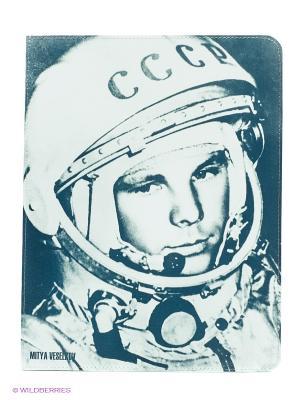 Чехол для IPad, Гагарин Mitya Veselkov. Цвет: белый, черный