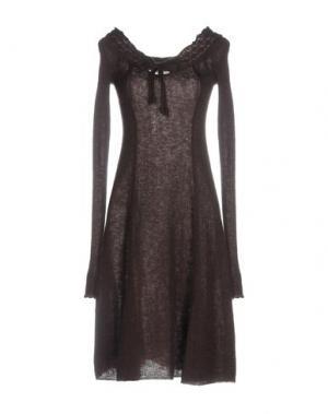 Платье до колена APPARTAMENTO 50. Цвет: баклажанный