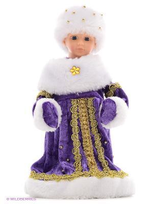 Снегурочка в фиолет. 30 см, мех., муз., песня Маленькой елочке Новогодняя сказка. Цвет: фиолетовый, белый