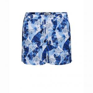 Шорты пляжные с рисунком перья JACK & JONES. Цвет: наб. рисунок синий,наб. рисунок/ розовый,рисунок/зеленый