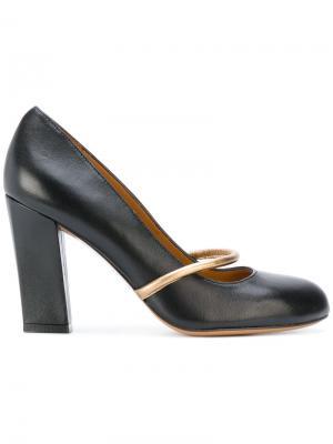Туфли с контрастными панелями Chie Mihara. Цвет: чёрный
