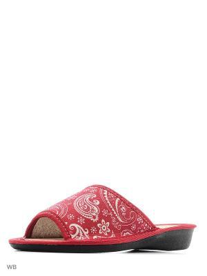Тапочки DOMINO. Цвет: красный