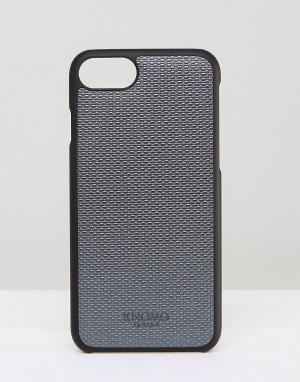 Knomo Чехол для iPhone 7. Цвет: серебряный