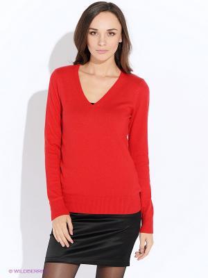 Пуловер Oodji. Цвет: красный