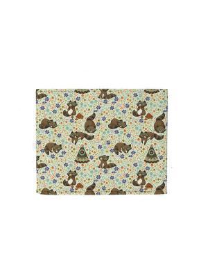 Обложка для Студенческого  Енотики TonyFox. Цвет: коричневый, фиолетовый, черный, синий