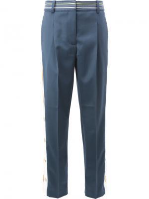 Укороченные брюки строгого кроя Peter Pilotto. Цвет: синий