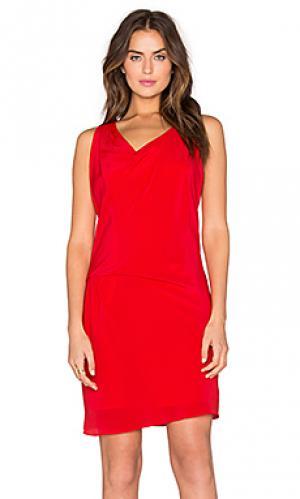 Платье athena Amanda Uprichard. Цвет: красный