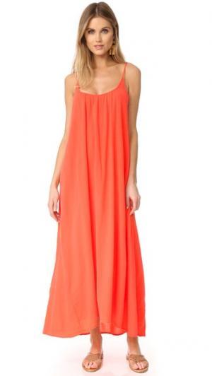 Макси-платье Tulum 9seed. Цвет: оранжевый