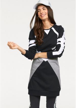 Платье Kangaroos. Цвет: черный/серый/белый