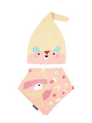 Комплект детский-шапка/косынка Оланж Ассорти. Цвет: розовый