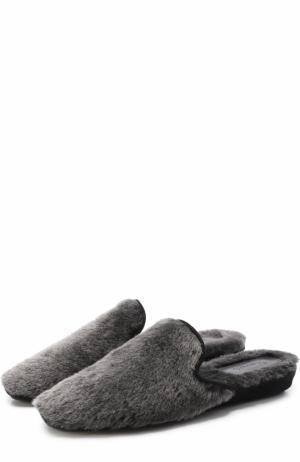 Домашние туфли из овчины Homers At Home. Цвет: серый
