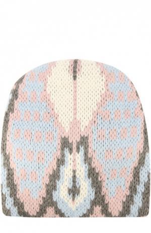 Вязаная шапка с узором Tak.Ori. Цвет: розовый
