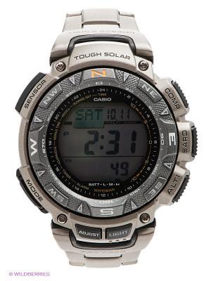 Часы PRO TREK PRG-240T-7E CASIO. Цвет: серый