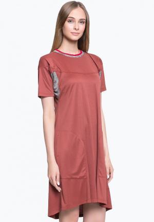 Платье feodora.moscow. Цвет: коричневый