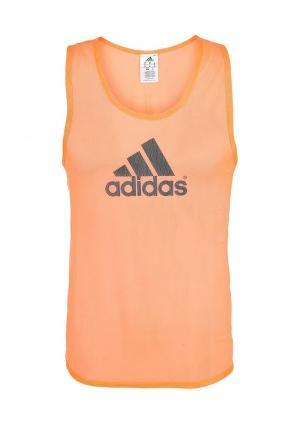 Майка adidas. Цвет: оранжевый