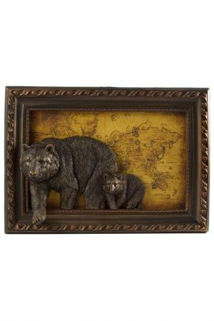Картина Медведи Русские подарки. Цвет: коричневый, желтый