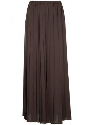 Плиссированные брюки-палаццо Aula. Цвет: коричневый