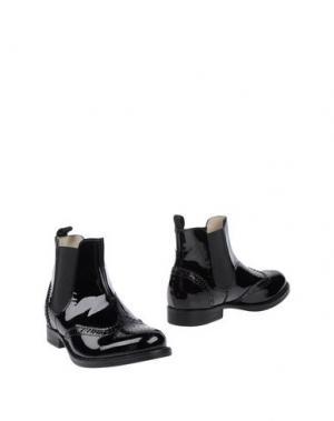 Полусапоги и высокие ботинки EQUERRY. Цвет: черный