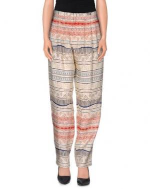 Повседневные брюки SEA. Цвет: красный