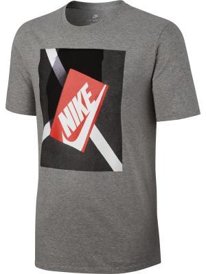 Футболка M NSW TEE SHOEBOX PHOTO Nike. Цвет: серый