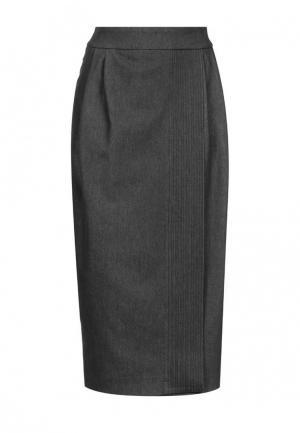 Юбка джинсовая Mayamoda. Цвет: черный