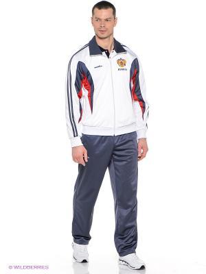 Спортивный костюм ADDIC. Цвет: темно-синий, белый