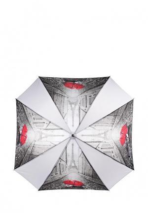 Зонт-трость Flioraj. Цвет: серый