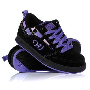 Кроссовки женские  Essex Black/Purple World Industries. Цвет: черный,фиолетовый