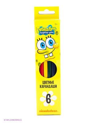 Карандаши цветные Губка Боб, 6 цветов Centrum. Цвет: желтый