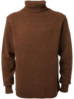 Джемпер с отворотной горловиной Cityshop. Цвет: коричневый