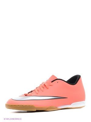 Бутсы MERCURIAL VORTEX II IC Nike. Цвет: оранжевый