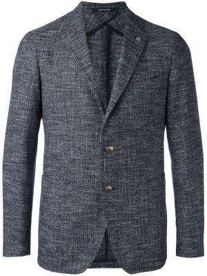 Notched lapel blazer Tagliatore. Цвет: синий