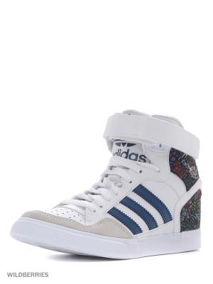 Кеды Extaball Up W Adidas. Цвет: белый