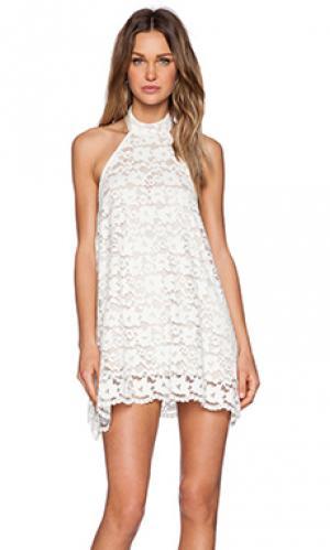 Платье babygirl NBD. Цвет: белый