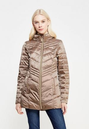 Куртка утепленная Tom Tailor. Цвет: бежевый
