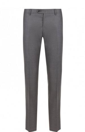 Шерстяные брюки свободного кроя Berwich. Цвет: серый