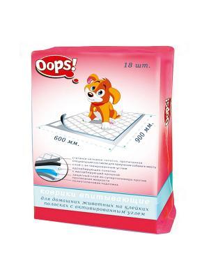 Пеленка для животных, 18 шт. OOPS!. Цвет: белый