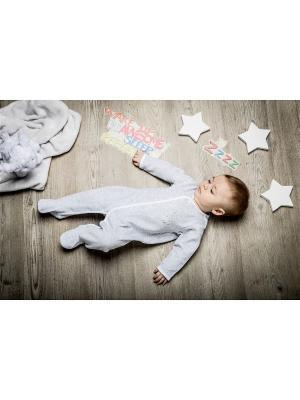 Комбинезон нательный для малыша BABALUNO. Цвет: серый