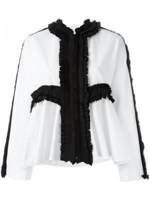 Блузка с плиссированными деталями Antonio Marras. Цвет: белый