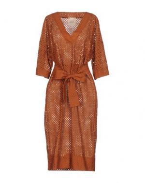 Платье длиной 3/4 GARAGE NOUVEAU. Цвет: коричневый