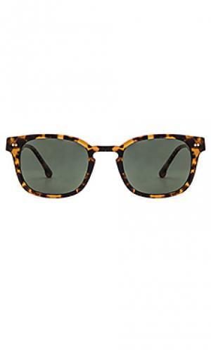 Солнцезащитные очки monroe ii Steven Alan. Цвет: коричневый