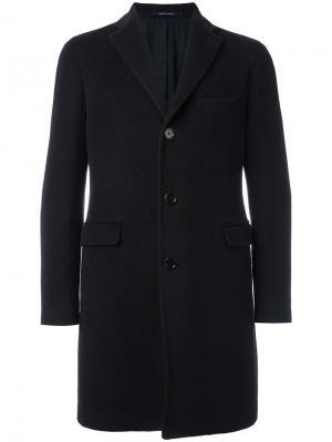 Классическое пальто Tagliatore. Цвет: синий